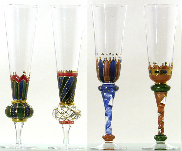 2200101 Lu00d6WENHERZ Champagner Flu00f6te Dekor 1 H. 27 Cm Sektglas Sektflu00f6te Glas | EBay
