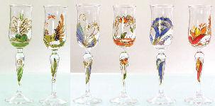 2090606 1 POESIE Romantique Liku00f6rglas Calla H. 19 Cm Schnapsglas Nagel Glas | EBay