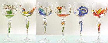 2090405 1 POESIE Romantique Burgunderglas Indien Weinglas Rotweinglas Glas | EBay