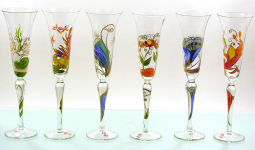 2090905 1 POESIE Romantique Flöte Indien H 28 cm Sektglas Champagner Flöte